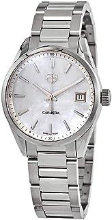 TAG Heuer - Carrera cuarzo blanco madre de Pearl Dial señoras reloj WBK1311.BA0652