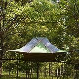 KGLOPYE Carpa 220 * 200 cm Tienda de árbol Colgante Ultraligero casa de árbol Colgante Hamaca de Camping Impermeable 4 Estaciones Tienda de campaña Mochila de Senderismo, Verde cuadrangular