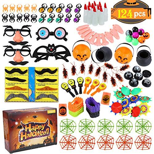 Twister.CK 124pcs Set di assortimenti di Giocattoli per favori di Halloween per Bambini, premi di Carnevale, premi in Classe, riempitivi per Sacchetti di Halloween, premi di omaggi di Halloween