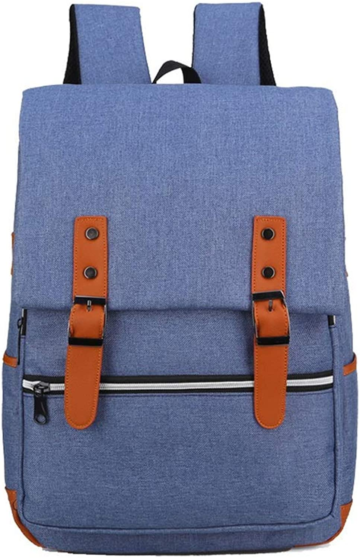 Travel School Backpack Vintage Men's Canvas Backpack Outdoor Sports Hiking Travel Rucksack Water Resistant Ourdoor Backpack Bag (color   blueee)