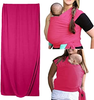 Wrap Baby Carrier, Stretchy Infant Sling, Perfect for Newborn Children Baby Carrier Cover Infant Soft Hipseat Sling Wrap C...