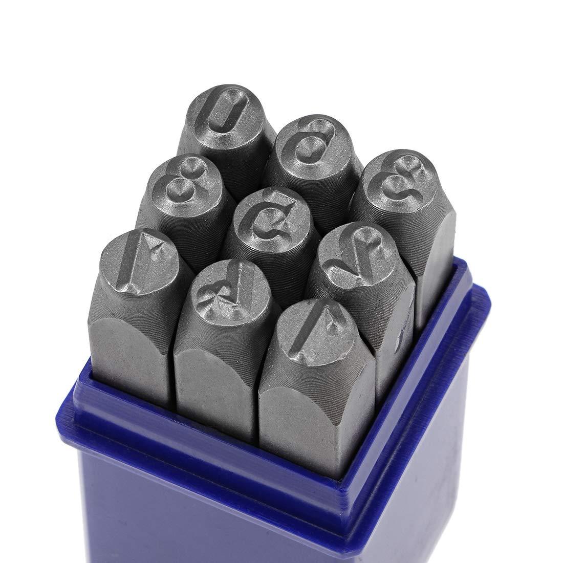 "Digital 0 to 9 5//32/"" 4mm Number Metal Stamp Set Steel Numbers Punch Sets"
