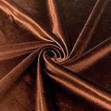 Shree Ganesh Fabrics Brauner Samtstoff für Kleider,