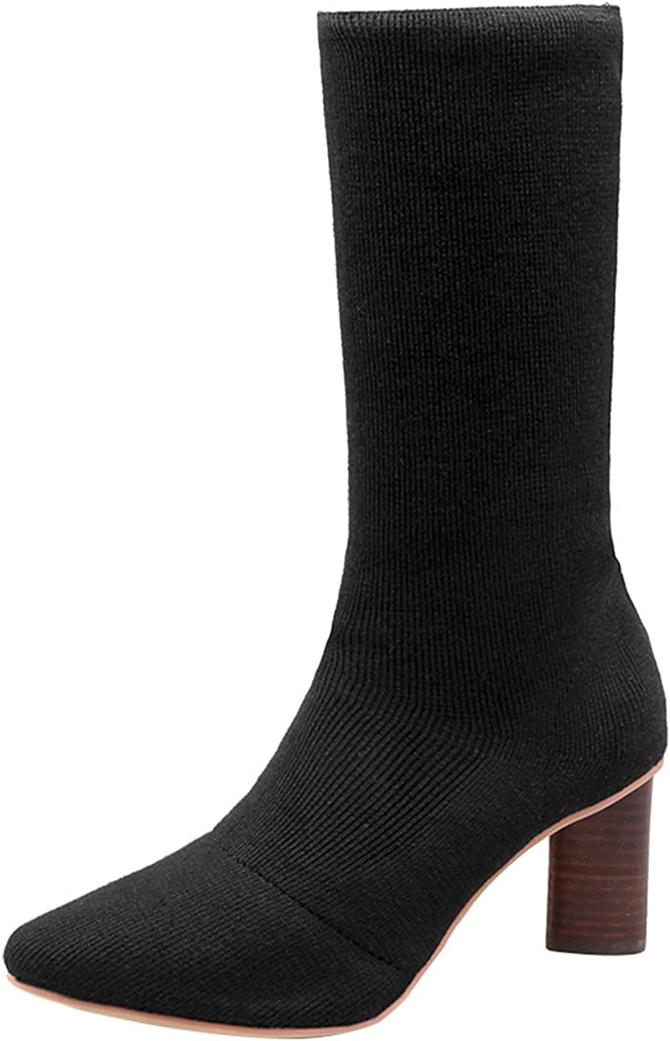 Jushee Womens Juguilt 7 cm mid-Heel Mid-Calf Pull-on Synthetic Boots