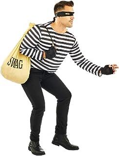 Fun Shack Negro Kit De Ladrón Disfraz para Hombres y
