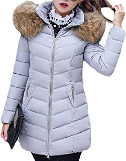 Womens's Thickened Down Removable Hooded Zipper Jacketss Warm Coats Overcoatss Tops