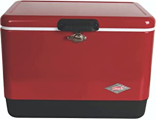 Coleman Cooler | Steel-Belted Cooler Keeps Ice Up to 4 Days | 54-Quart Cooler for Camping, BBQs, Tailgating & Outdoor Acti...