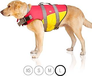 Bella & Balu Chaleco Salvavidas para Perros - Chaleco Reflectante para Perros para máxima Seguridad en y en el Agua al Nadar, navegar, Surf, Sup, excursiones en Barco, Kayak y Canoa