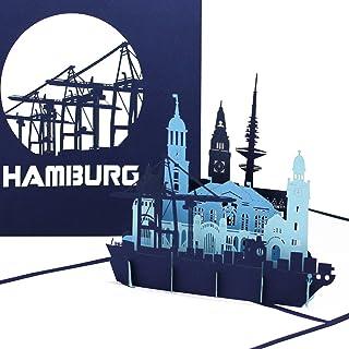 "Pop Up Karte ""Hamburg – Hamburger Hafen Panorama"" - 3D"