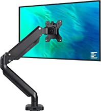 EleTab Single Monitor Desk Mount Stand - Articulating Full Motion Swivel Gas Spring Monitor VESA Arm Fits for Computer Mon...