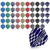 kwmobile 50x Ali Freccette Standard in Plastica - per Frecce in Metallo e Plastica - Set Voli Alette Dart Flights - Diversi Design