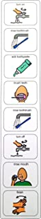 Plastic Visual ASD Cleaning Teeth Schedule (Picture Communication Symbols)