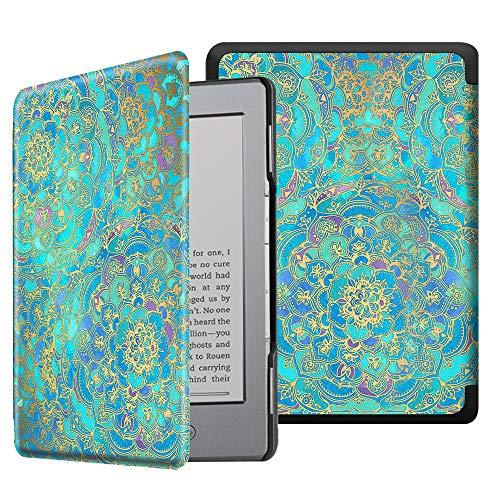 Fintie Hülle kompatibel für Kindle 5 (5. Generation 2012 Modell) / Kindle 4.Generation - Die dünnste und leichteste Schutzhülle mit Magnetverschluss, Jade