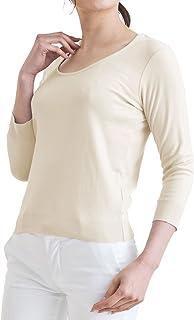CorLeonis(コルレオニス) いつまでも柔らかな肌触りで着心地がいいVネック カットソー(7分袖)