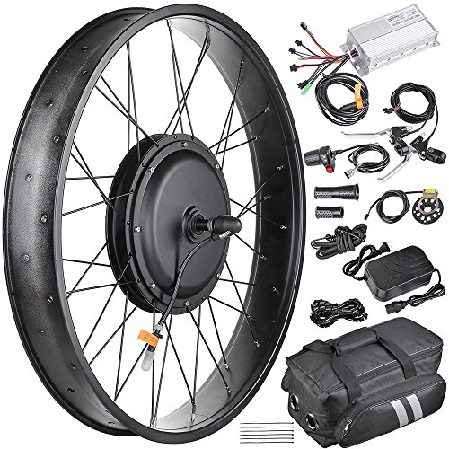 ZeHuoGe 20'x4' Fat Tire Electric Bike Single Wall Aluminum Rim 16.5' Hub Size 48V 1000W 470RPM Brushless Front Hub Motor Kit US Delivery(20')