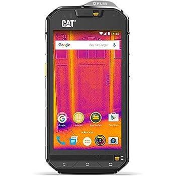 CAT PHONES S60 Rugged Waterproof Smartphone with integrated FLIR camera, Black (CS60SUBUSAUN)