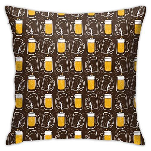 XCNGG Funda de Almohada Funda de cojín de Almohada para el hogar Ropa de Cama Throw Pillow Case, Beer Pillow Cover, Decorative Pillowcase Square Cushion for Sofa Couch Car 18x18