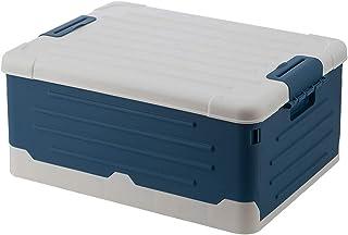 ROSEBEAR Boîte de Rangement Pliable Bac de Rangement Pliable Empilable avec Couvercle Idéal pour Les Voyages à L'hôtel à L...