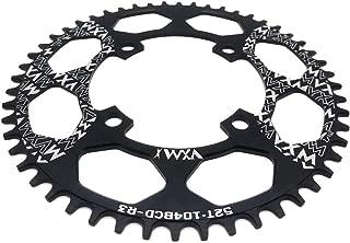 104BCD Chainring 40T 42T 44T 46T 48T 50T 52T【2019 CNC 7075-T6 Aluminum】 Narrow Wide Chain Ring for Road Bike,Mountain Bike,BMX Bike,MTB Bike Parts