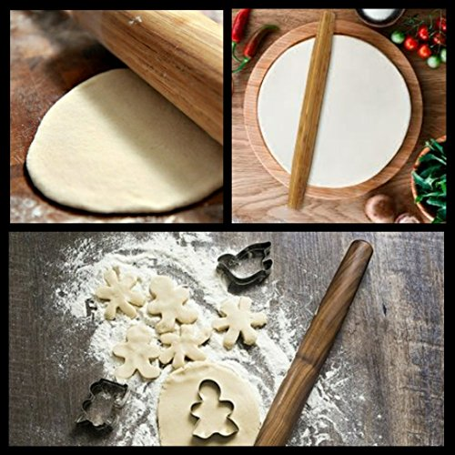Adams of Saratoga - 12 inch Wooden French Bamboo -Smaller size for ease of use - Healthy Living Rolling Pin - all natural - clean eats