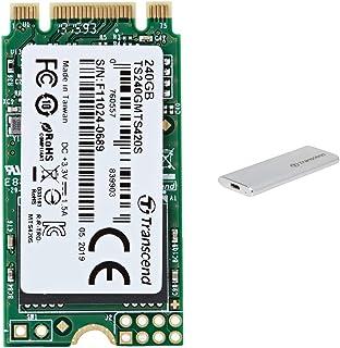 【セット買い】Transcend 3D TLC NAND採用 SSD 240GB M.2 2242 SATA-III 6Gb/s TS240GMTS420S & Transcend USB3.1 M.2 SSD 外付けケース TS-CM42S