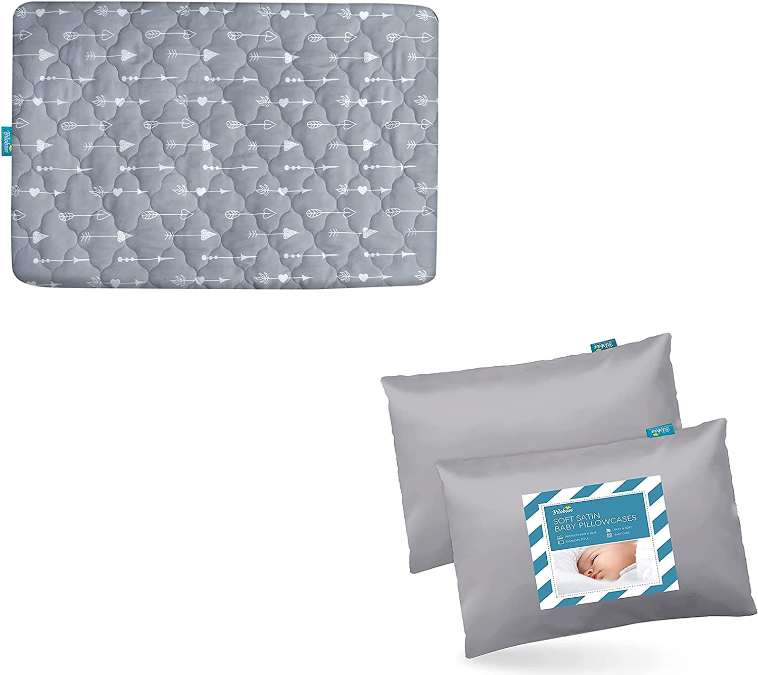 Price reduction Pack n Play Mattress Pad Cover with Print Arrow Colorado Springs Mall Waterproof Satin