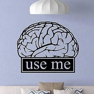 Cerveau Sticker Mural Salle De Classe Travail Éducation Motivation Bureau Signe Science Citation Autocollant Étude Décor É...