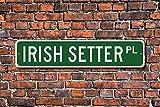 Aersing Metall Schild Post Irish Setter Dog Lover Geschenk Schild Wand Home Dekoration Straßenschild