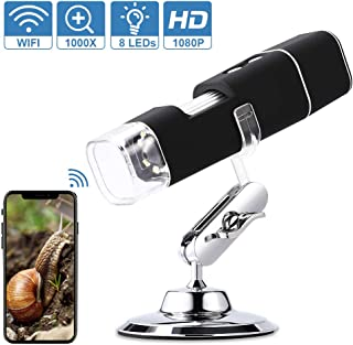 Briskay 3 in 1 Digital Microscope 1600X Portable Two Adapters Support Windows Android Phones Magnifier