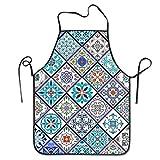 Elsaone Hermoso azulejo portugués para Mujer, Gran Regalo para Mujer, Damas, Hombres, Novio, Delantal para Cocina 28.3 x 20.5 Pulgadas / 52 x 72 cm
