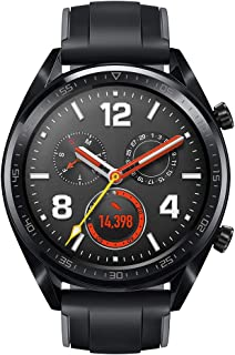 HUAWEI Watch GT Sport (Black, 46mm, 2 Weeks Battery, Realtime Heartrate Monitor, GPS, Kirin A1, AMOLED Display, Smart Notification, Clever Scientific Coaching, 5ATM Water Resistant)