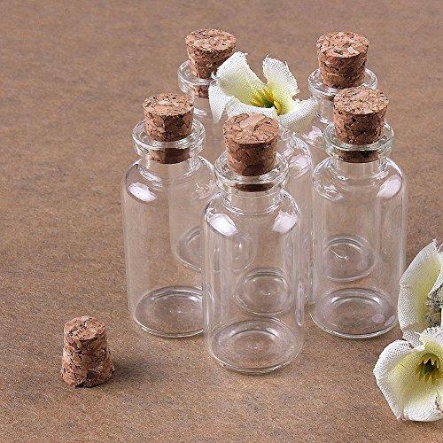 Musuntas 8 x 10ml Mini Glasfläschchen mit Korkverschluss/kleine Glasflaschen/Mini Flasche/Mini Fläschchen mit Korken 22x50mm