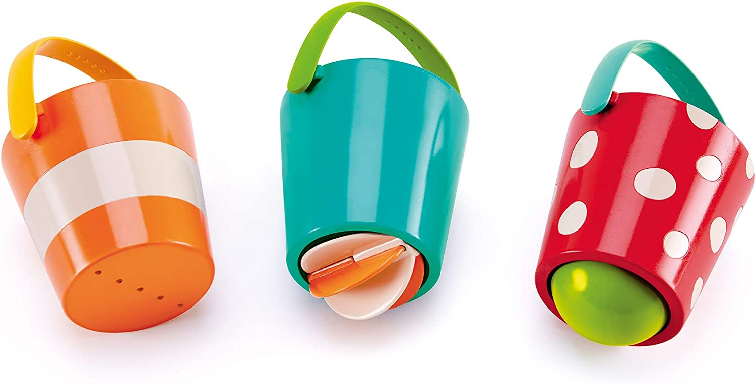 Max 87% OFF Recommended Hape Happy Buckets Set Three Water Wheel Toys Bath For To Time