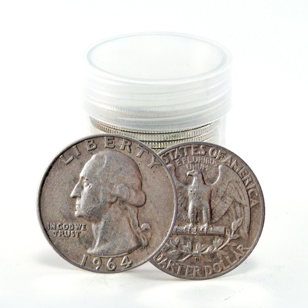 1964 Cheap mail order specialty store No Mint Mark washington Quarter Max 66% OFF Seller Fine dollar quarter