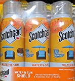 Scotchgard Water & Sun Shield with UV Protector 3 x 10 oz Cans