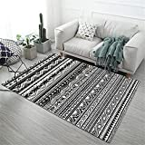 Kunsen alfombras pie de Cama Alfombra Infantiles Adorno Rectangular Negro Sala de Estar decoración de Pila Corta Mancha Resistente alfombras a Medida Online 200X250CM 6ft 6.7' X8ft 2.4'