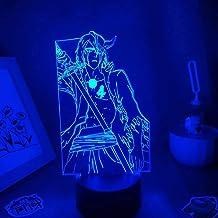 3D iluzja lampa anime lampka nocna anime lampy wybielacz anime figurka ulquiorra cyfer lampy 3D LED iluzja nocne światła f...