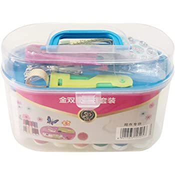 51 Pieces Sewing Tool Box for Home Travel Beginner Funycell Sewing Kit Random Colors