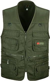 Mens Multi-Pocket Vest Outdoor Waistcoat Photography Camping Hunting Fishing Bodywarmer Gilet