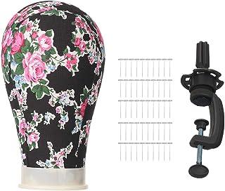 zroven 21~25 Inch Wig Head Mannequin Head Wig Display Styling Head with T - Pins Wig Mannequin Head Stand Wig Display Head