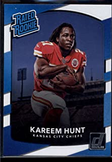 2017 Donruss #332 Kareem Hunt Chiefs Rated Rookie NFL Football Card NM-MT