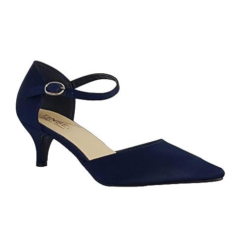 Navy Heel ShoesAmazon co uk Kitten R4jq5AL3