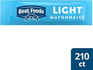 Best Foods Light Mayonnaise Stick Packets Easy Open, Made with 100% Cage Free Eggs, Gluten Free, 0.38 oz, Pack of 210