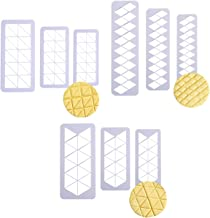 9PCS Decoration Geometric Pattern Plastic Cup Cake Fondant Sugarcraft Cookie Cutters Cake Decorating Plunger Cutters Icing Modelling Tool Sugarcraft Cake Cutter