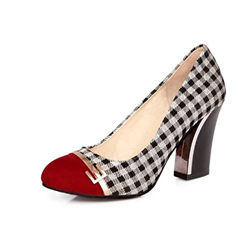a32f1ba77d4 Plaid Heels: Amazon.com