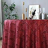 Kuingbhn Nappe Rectangulaire Toile Ciree Epaisse Maison Simple Nappes Cireeet Anti Taches Vin Rouge Cercle Diamètre 240cm