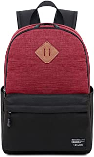 Backpack Male Backpack School Bag Large Capacity Travel Leisure Computer Bag Korean Female Middle School Student Backpack QDDSP (Color : Red)