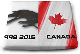 STWINW Indoor/Outdoor Comfortable Memory Foam Seat Cushion Canada Flag Dog Chair Pad Wheelchair Cushion for Office,Vehicles,Home,Truck Driver,Kitchen Chairs,Car