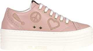 Love Moschino Luxury Fashion Womens Sneakers Spring Pink
