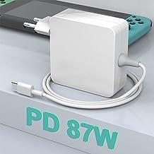 Cargador Rocketek 87W USB C, Compatible con Todos Los Teléfonos Inteligentes Y Portátiles con Puerto USB C o C, Apto para ...